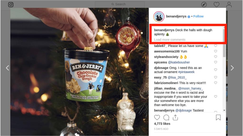 Instagram screencap