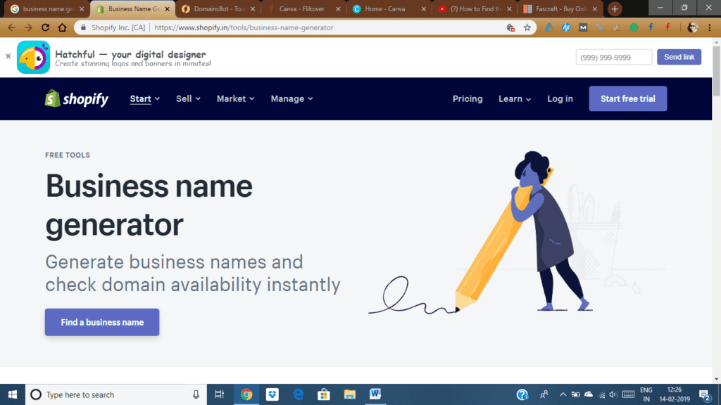 Business Name Generator by Shopify