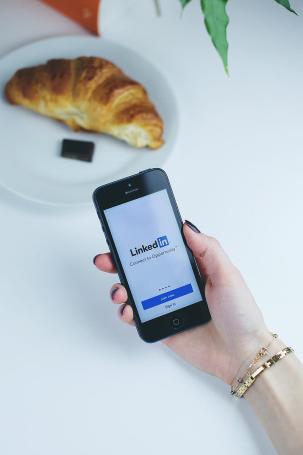 LinkedIn app on smartphones