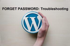 forget password troubleshooting wordpress